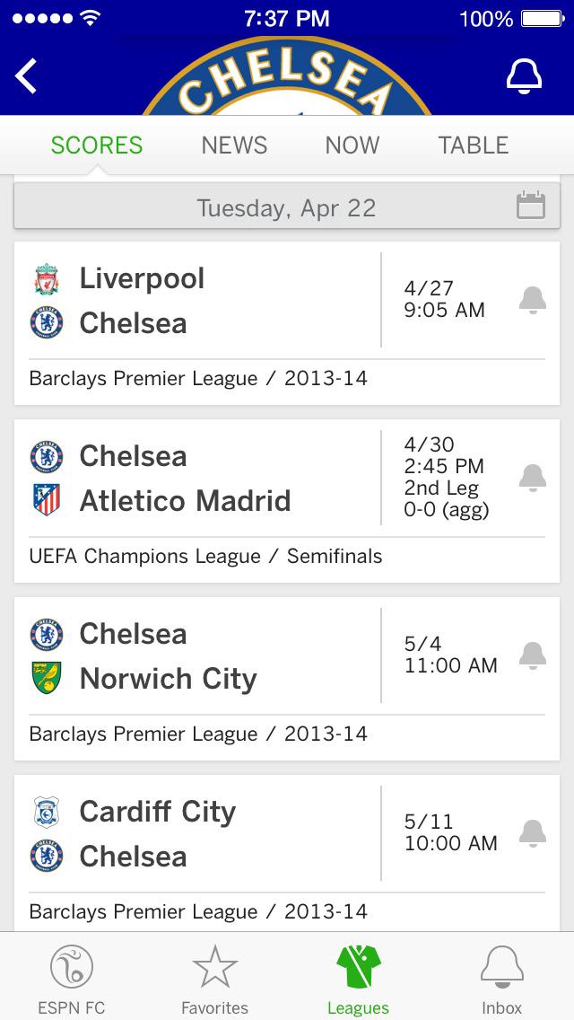 ESPN FC Soccer screenshot 4
