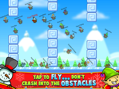 Christmas Race – Fun Flying Santa Claus Game screenshot 6