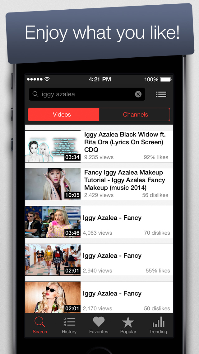 MyTube - Free Video Player for Youtube Clips, TV-shows and Movies Streaming screenshot 5