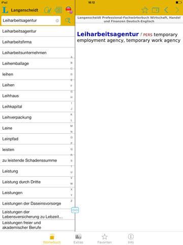 Wirtschaft, Handel und Finanzen Englisch<->Deutsch Fachwörterbuch Professional screenshot 8