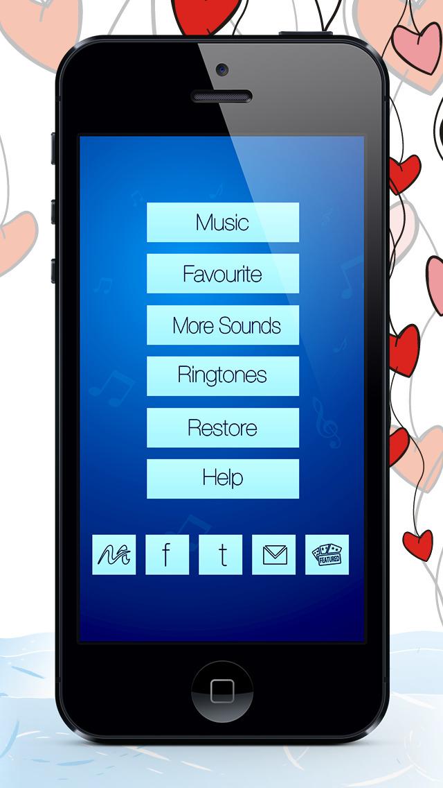 Romantic Ringtones & Musics  – Valentines Songs & Tunes Edition screenshot 3