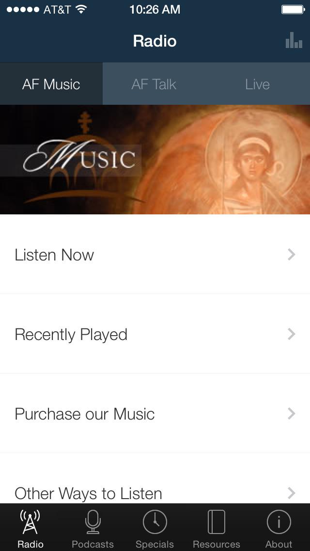 Ancient Faith Radio App screenshot 1