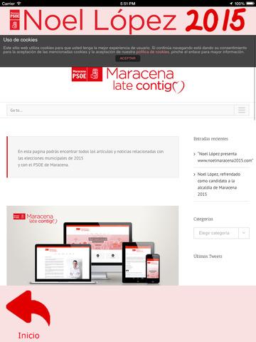 Noel2015 - Noel López - candidatura del Partido Socialista a la alcaldía de Maracena (Granada, España) screenshot 9