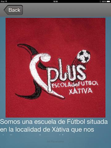 PLUSXATIVAIOS - Escuela Futbol Plus Xativa screenshot 7