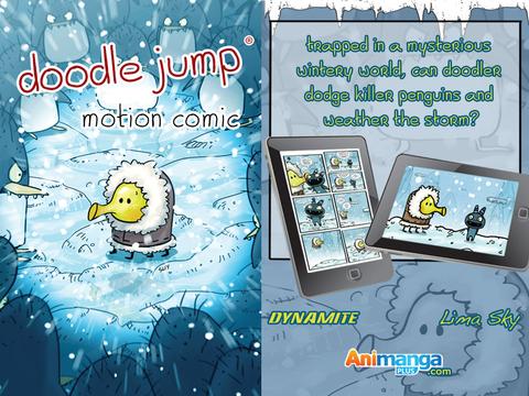 Doodle Jump Motion Comic - náhled