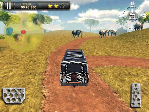3D Safari Parking Free - Realistic Lion, Rhino, Elephant, and Zebra Adventure Simulator Games screenshot 7
