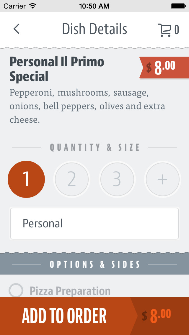 Il Primo Pizza and Wings screenshot 3