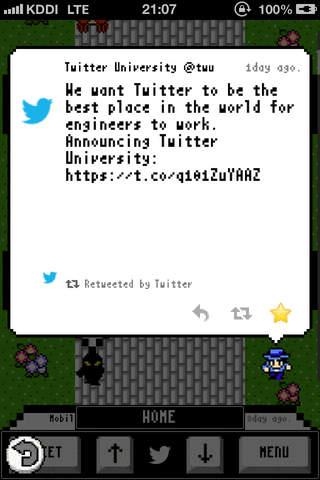DragonTweet - Retro RPG-style Twitter app - náhled