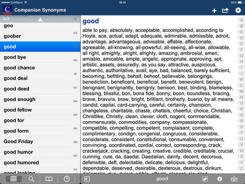English Synonyms (Moby Thes) screenshot 10