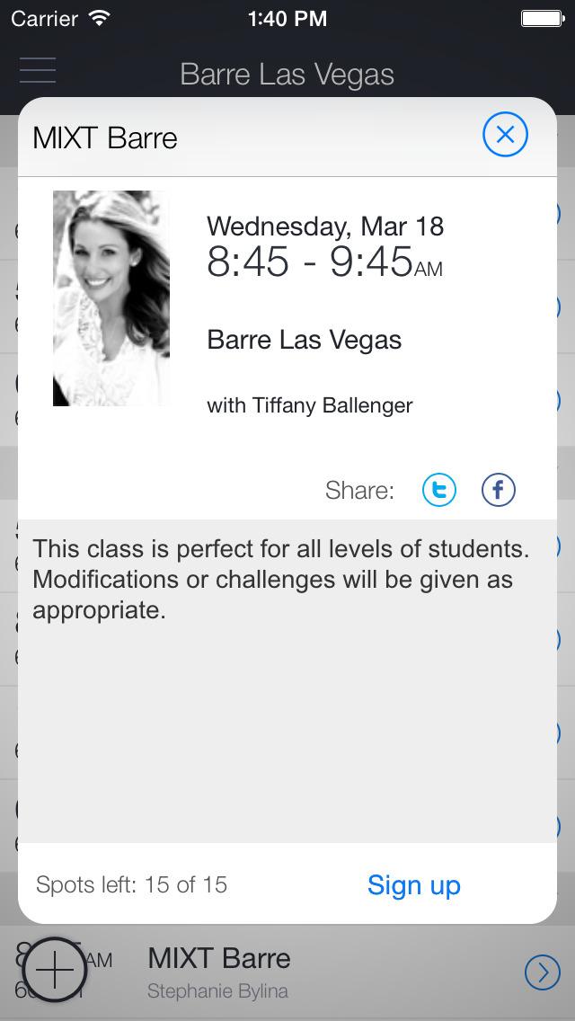 Barre Las Vegas screenshot 2