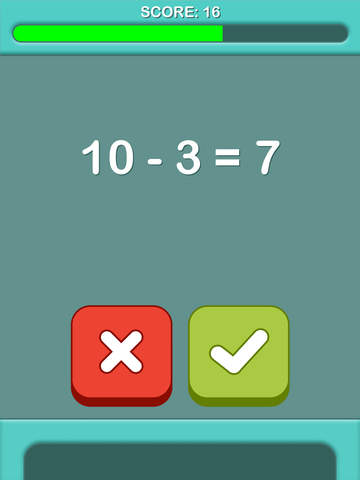 Add 60 Seconds for Brain Power - Subtraction Lite Free screenshot 8