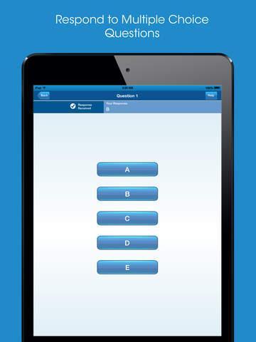 i>clicker GO – Mobile Classroom Clicker screenshot 8