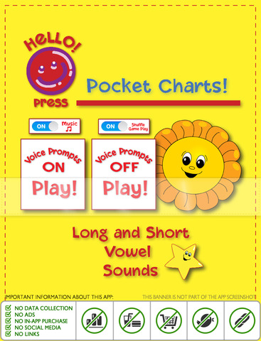 Pocket Charts! Long and Short Vowel Sounds - náhled