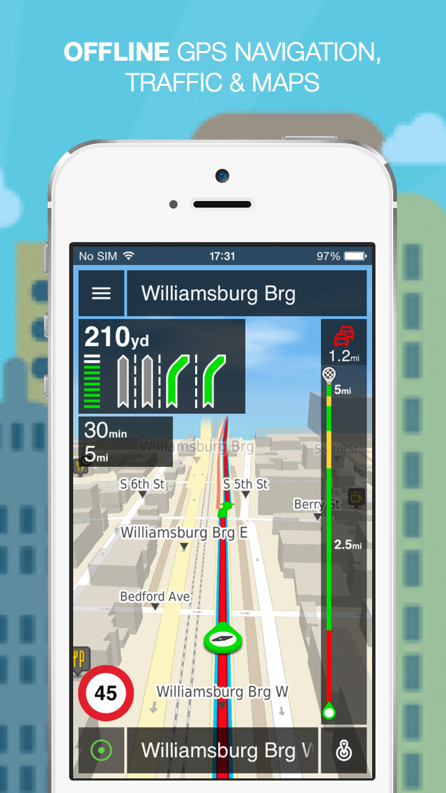 NLife USA Premium - Offline GPS Navigation, Traffic & Maps screenshot 1
