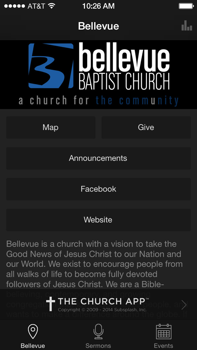 Bellevue Baptist Church screenshot 1