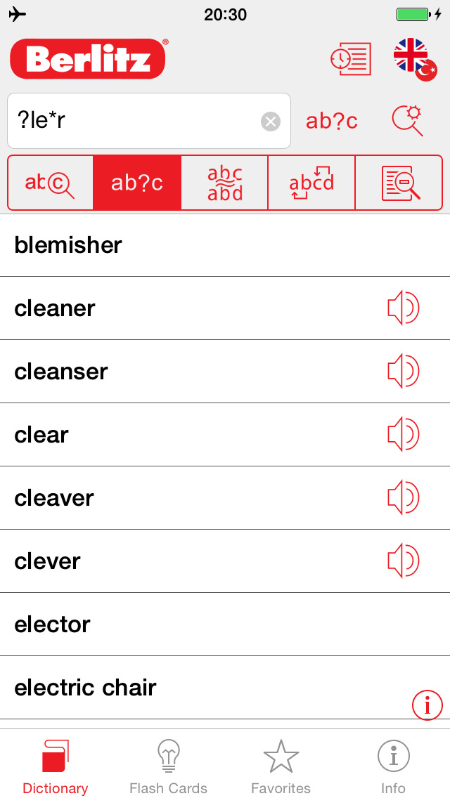 Turkish - English Berlitz Basic Dictionary screenshot 4