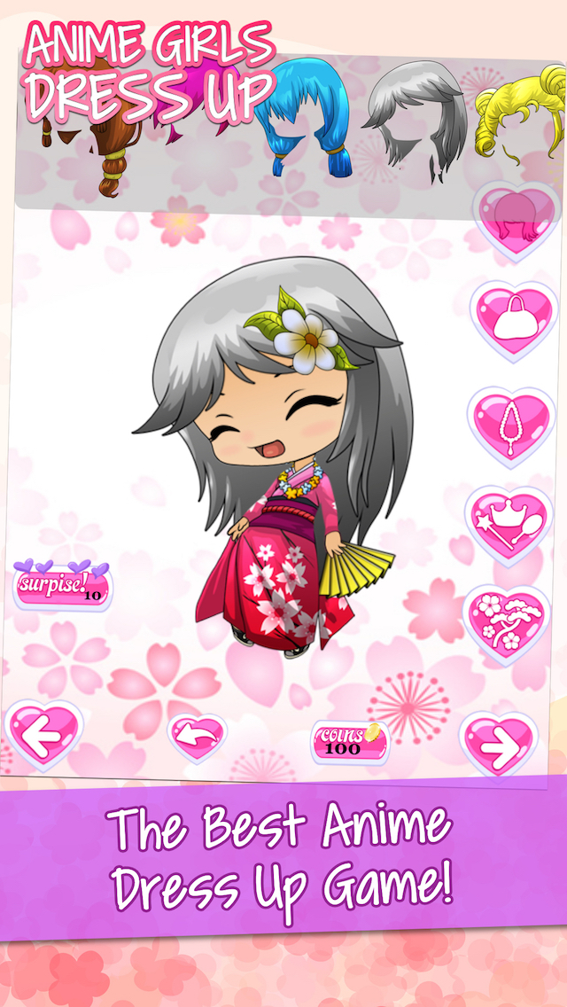 Anime Avatar Girls Free Dress Up Games For Kids Apps 148apps