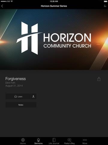 Horizon Community Church App screenshot 6