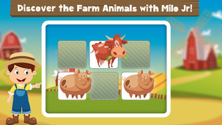 Milo's Free Mini Games for a wippersnapper - Barn and Farm Animals Cartoon screenshot 4