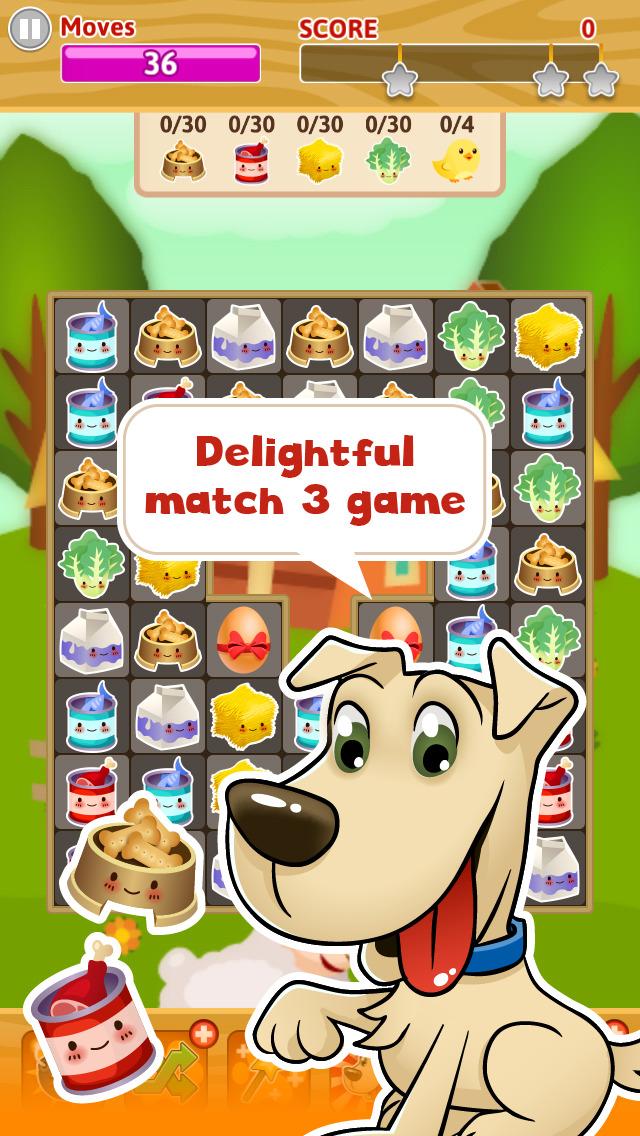 Pet Paradise Story - Match 3 puzzle adventure screenshot 1