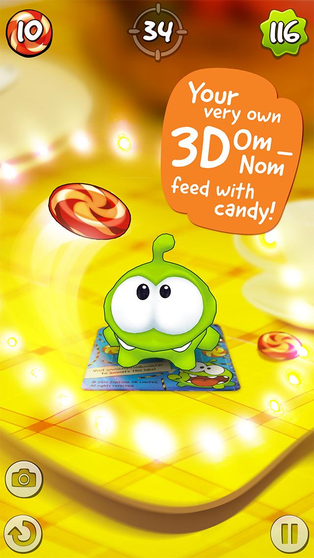 Om Nom: Candy Flick screenshot 1