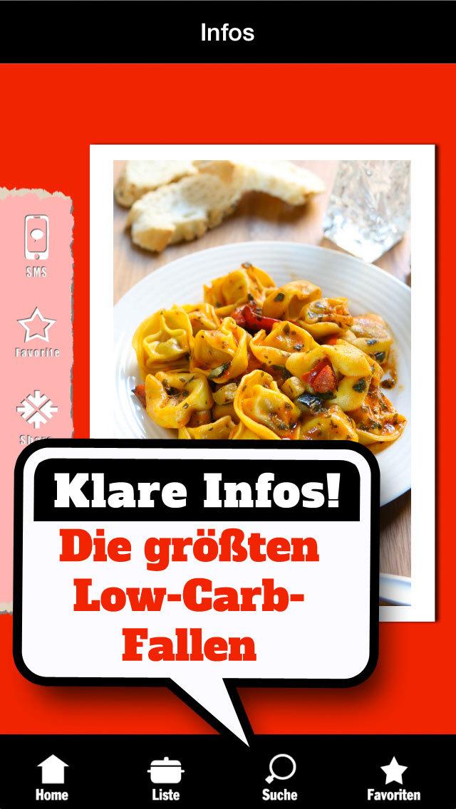 Low Carb Liste - Abnehmen ohne Kohlenhydrate und Diät screenshot 2