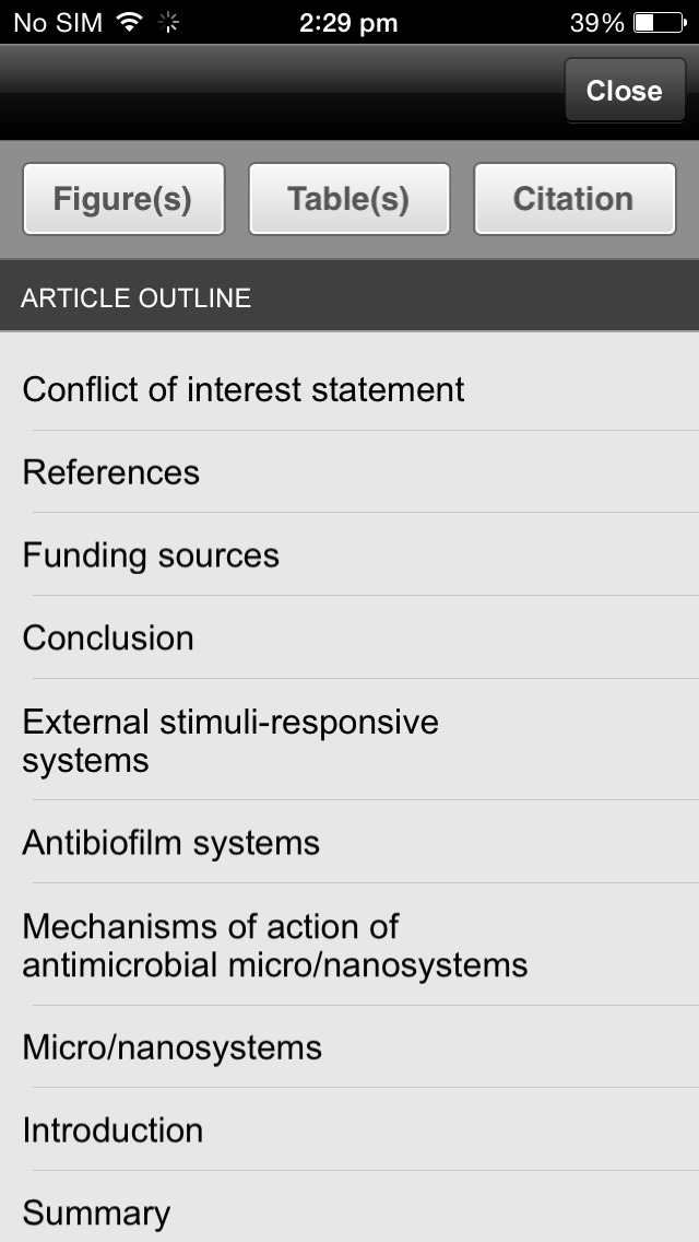 The Journal of Hospital Infection screenshot 2