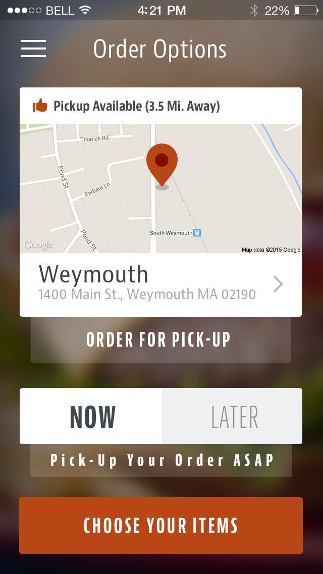 Main Street Grille Weymouth screenshot 2