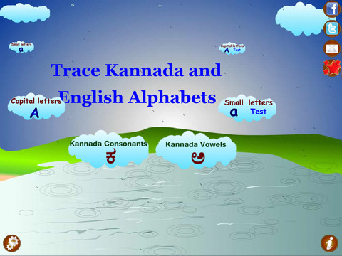 Trace Kannada and English Alphabets Kids Activity screenshot 3