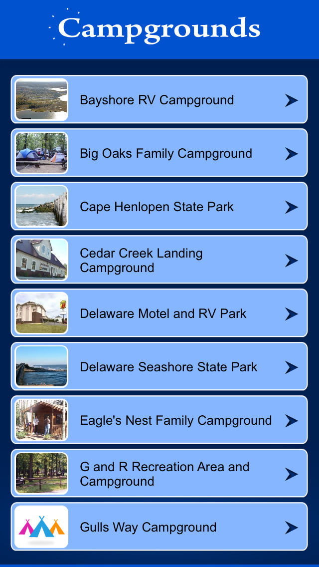 Delaware Campgrounds screenshot 2