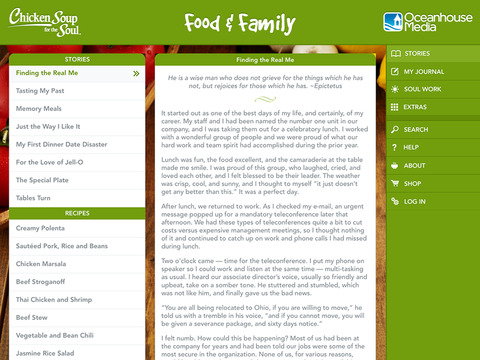 Food & Family from Chicken Soup for the Soul ® screenshot 7