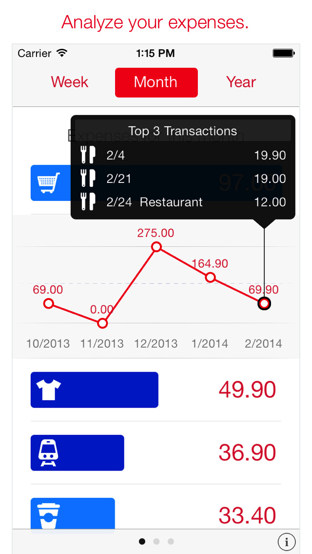 Next for iPhone - Track your expenses & finances screenshot #4