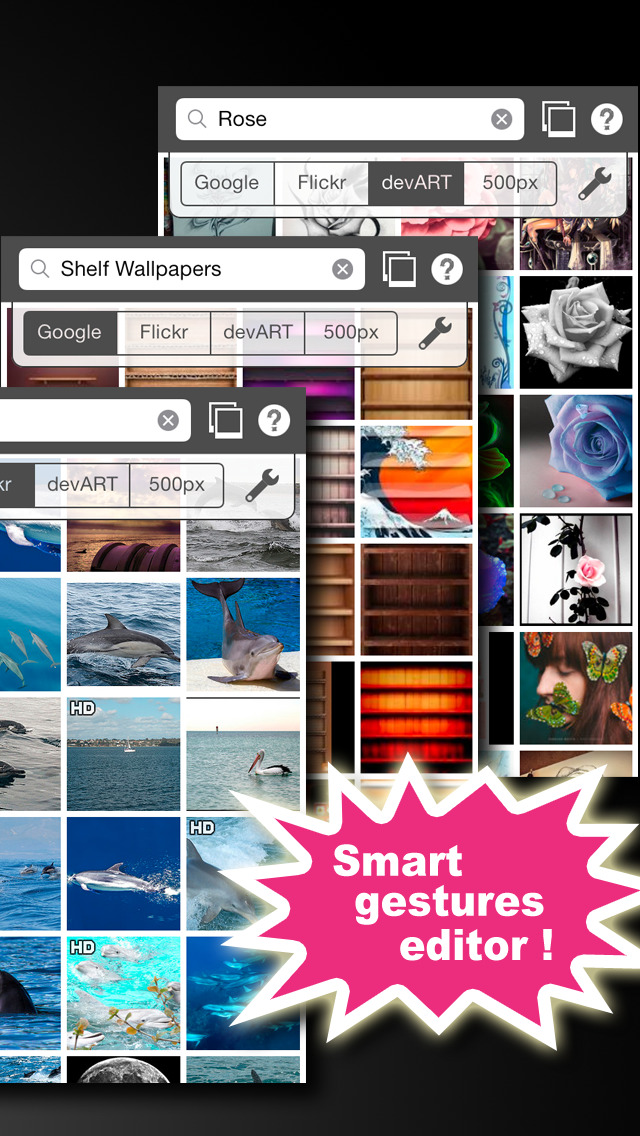 PatchWall - find pictures / create wallpapers / print on anything! screenshot 5