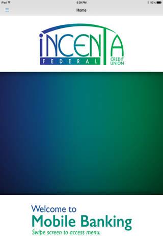 INCENTA FCU MOBILE APP - náhled