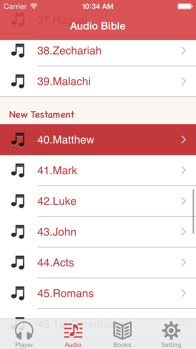 KJV Bible (Audio & Book) screenshot 2