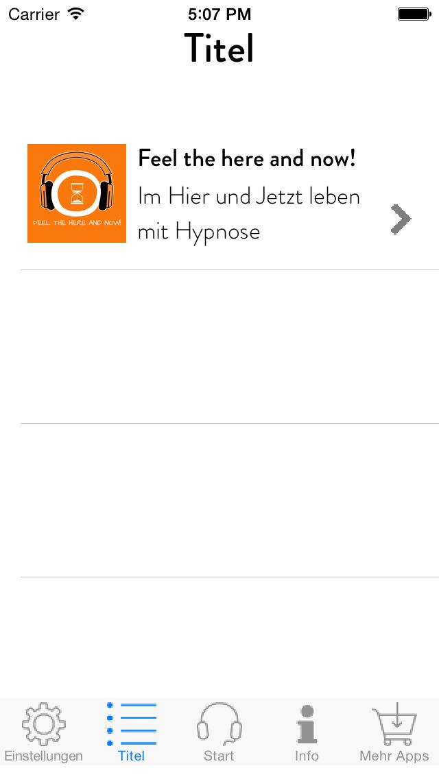 Feel the Here and Now! Im Hier und Jetzt leben mit Hypnose screenshot 2