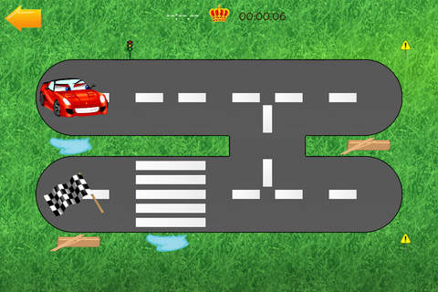 Cars road maze - funny free educational shape matc - náhled