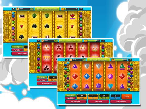 `Ace Lucky Casino Jackpot Gold Slots - Slot Machine with Blackjack, Solitaire, Roulette, Bonus Prize Wheel screenshot 10