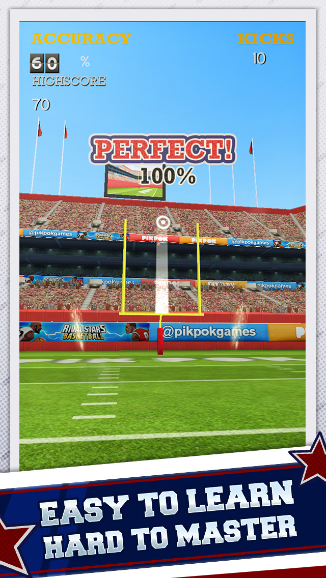 Flick Kick Field Goal Kickoff screenshot 1