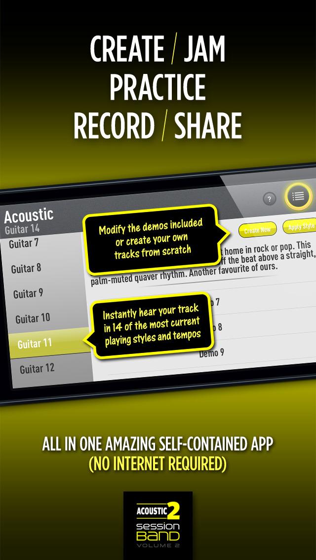 SessionBand Acoustic Guitar 2 screenshot 4