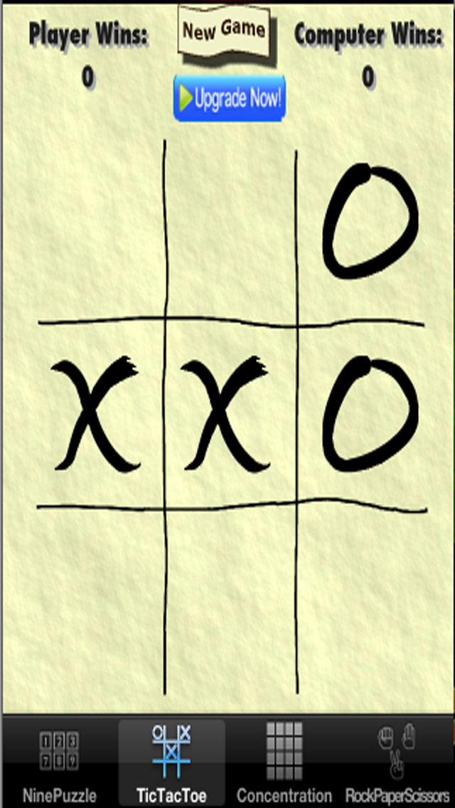 Child's Play Games - Tic-Tac-Toe,9-Puzzle,Concentration and Rock-Paper-Scissors screenshot 2