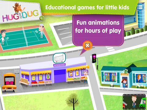 Little Town Explorer -  HugDug educational activity game for little kids. screenshot 3
