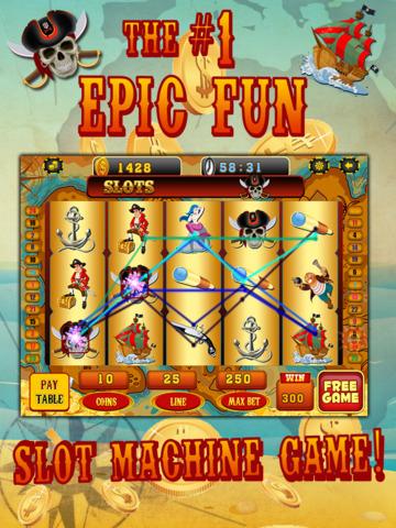 Ace Pirates Slots Casino - Lucky 777 Jackpot Journey Slot Machine Games HD screenshot 10