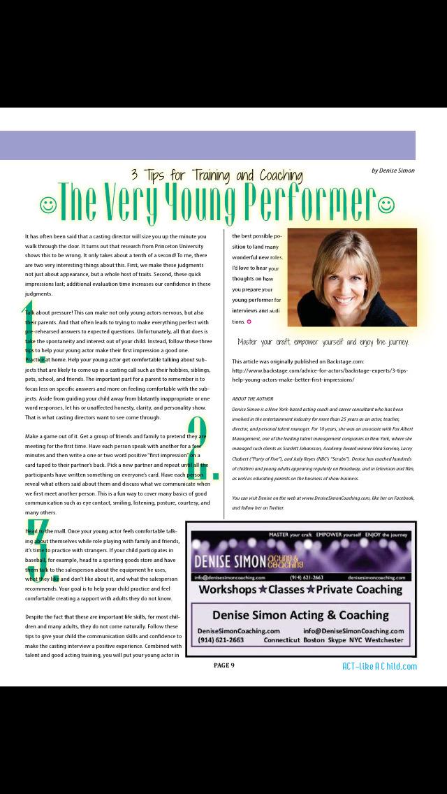 ACT Like A Child Magazine screenshot 2