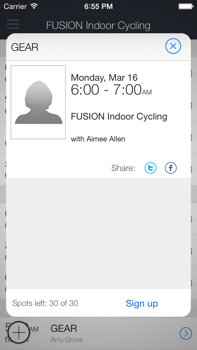 Fusion Indoor Cycling screenshot 2