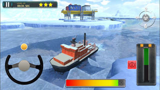 3D Icebreaker Parking - Arctic Boat Driving & Simulation Ship Racing Games screenshot 5