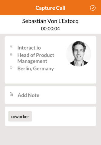 myContacts - Mobile CRM for Sales Professionals - náhled