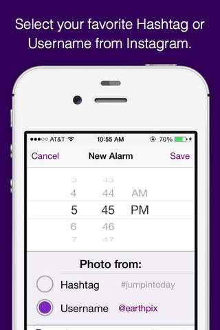 Hashtag Alarm Clock for Instagram - náhled