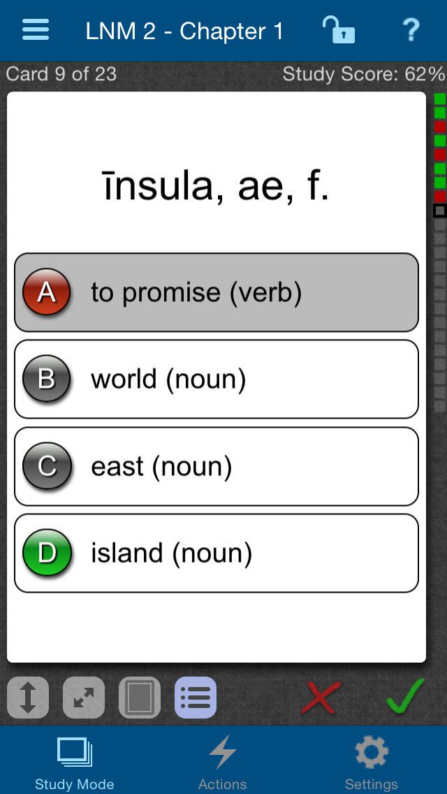 Latin for the New Millennium Level 2 Vocabulary Flashcards screenshot 2