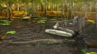 3D Swamp Parking - Real Speed Boat Simulator Driving & Racing Games screenshot 4
